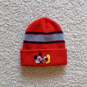 Mickey Mouse Red Winter Hat